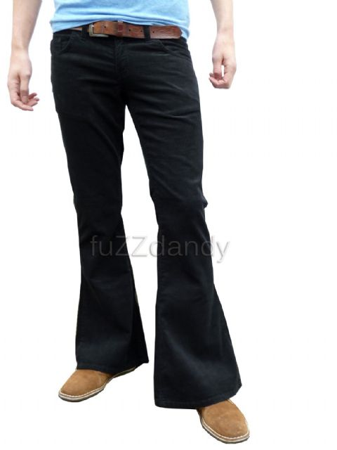 Classic Cord Flare - Corduroy Bell Bottom Flares (BLACK)